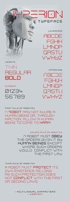Hyperion Typeface - Futuristic Decorative