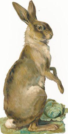 Victorian scrap rabbit inspiration for a feltie