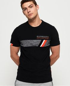 Shop Superdry Mens Trophy Tri Line T-Shirt in Black. Buy now with free delivery from the Official Superdry Store. Dad To Be Shirts, Boys Shirts, Tee Shirts, Mens Polo T Shirts, Tee Shirt Homme, What To Wear Today, Superdry Mens, Pretty Shirts, Camisa Polo