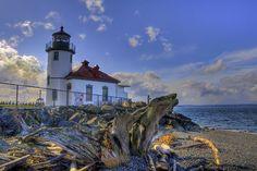Alki Beach lighthouse.  West Seattle.