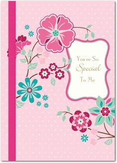 So Special - Mother's Day Greeting Cards - Hallmark - Blushing - Pink : Front