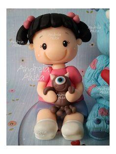 26/05 - Topo de bolo da Juju com Monstros S.A - Obrigada a Mamãe Cintia Iwakura - São Paulo SP | Flickr - Photo Sharing!