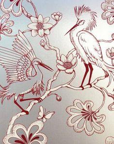 Florence Broadhurst's Egrets' Wallpaper
