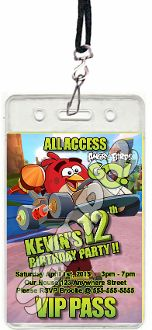 ANGRY BIRDS GO! VIP PASSES WITH LANYARDS