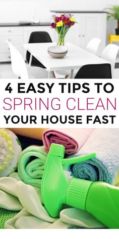 How to spring clean your house fast. the best spring cleaning tips and tricks to clean a dirty house. The ultimate printable spring cleaning checklist cheat sheet. Easy spring cleaning hacks and ideas for the home. Speed Cleaning, Household Cleaning Tips, Cleaning Recipes, House Cleaning Tips, Spring Cleaning, Cleaning Hacks, Cleaning Checklist, Cleaning Lists, Cleaning Schedules