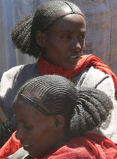 . African Hairstyles, Afro Hairstyles, Bandana Hairstyles, African Beauty, African Women, Hair Art, My Hair, Oromo People, Costume Ethnique
