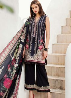 Baroque Online: Baroque Lawn & Chiffon Suits Embroidered Collection 2019 | Sanaulla Online Store Eid Collection, Summer Collection, I Luv Designer, Pakistani Dresses, Pakistani Suits, Eid Outfits, Lawn Suits, 3 Piece Suits, Online Collections