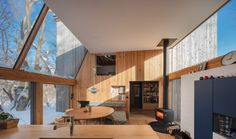 Timber volumes form live-work spaces for artist and architect in rural Japan