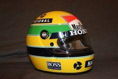 Lot Helmet Replica Mclaren Honda F1 1989 : Alain Prost / Ayrton Senna