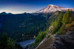 Nightfall at the Park by Derek Kind on 500px. This is a picture of Mt. Ranier in WA