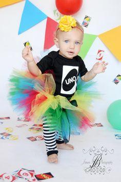 Uno Birthday Tutu Set Girl's First Birthday by birthdaycouture