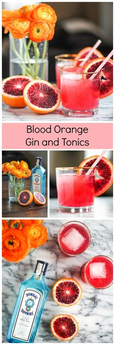 Blood Orange Gin and Tonics are a delicious cocktail and an easy twist on a classic cocktail recipe! Learn how to make them right here!