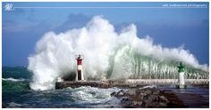 Kalk Bay (Cape, South Africa) seems to specialise in extra large waves but the lighthouse continues to withstand the onslaught Large Waves, Night Sea, Moon Photos, Canvas Art, Canvas Prints, Statue Of Liberty, South Africa, Around The Worlds, Fine Art