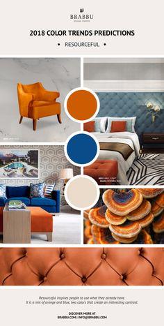 2018 Color Trends Predictions: the design trend guide you must-see. 2018 Color trends. Design Trends. Color Trends. #colortrends #2018predictions #pantone     inspire all over: www.brabbu.com/press-download