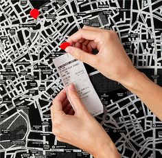 Drop that Pin for Real: City Maps Printed on Felt
