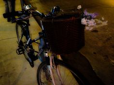Flowers for a bicycle basket