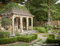 Beautiful Backyard Ideas and Garden Design Blending Classic English and French Styles beautiful backyard landscaping and garden design with gazebo