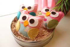 Mini Felt Plush Toy Baby Isabellas The Owls  by dropsofcolorshop, $30.00