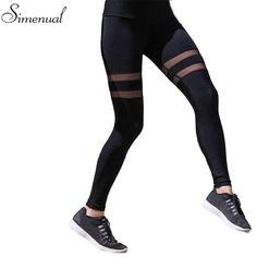 9cd3dc52a57 Striped mesh splice fitness legging 2017 athleisure elastic slim sexy  leggings for women harajuku fashion women s jeggings sale