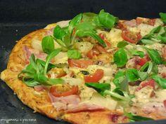 ciasto na pizzę,pizza z roszponką,pizza, pyszna pizza,przepis na pizzę,