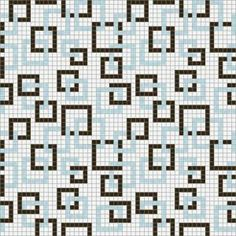 Mosaic Loft Links Calm Motif 24 in. x 24 in. Glass Wall and Light Residential Floor Mosaic Tile-053-0101 at The Home Depot