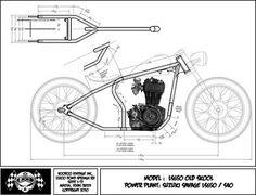 Resultado de imagen para chopper frame plan
