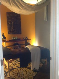 Another beautiful treatment room that will leave you feeling relaxed and at peace