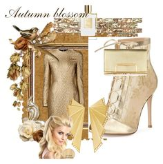 """""""Gold"""" by soofficial87 ❤ liked on Polyvore featuring Creatures Of The Wind, Gianvito Rossi and Ileana Makri"""