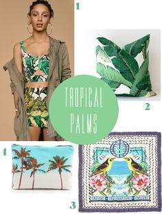 tropical palms  |  pattern