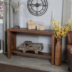 Brinfield Rustic Console Table - Console Tables at Hayneedle