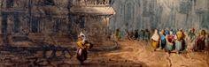 David Roberts (Édimbourg, 1796 – Londres, 1864) Saint-Vulfran vue de la place du Marché-au-Blé Aquarelle sur papier Abbeville, musée Boucher-de-Perthes, Inv. n° 848 Don de Madame de Cossette, 1937