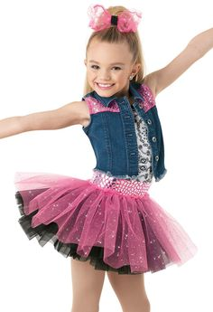 Gorgeous, age-appropriate dance recital costumes for little dance-class beginners. Shop girls' dance costumes and save with studio-exclusive pricing. Dance Recital Costumes, Girls Dance Costumes, Jazz Costumes, Dance Outfits, Tulle Hair Bows, Star Costume, Costume Collection, Girl Dancing, Dance Wear