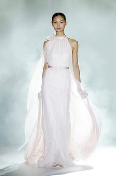 Straight from the front row at Barcelona Bridal Week, our top picks from Rosa Clara's colourful 2013 collection. Wedding Dress 2013, Pink Wedding Dresses, Bridal Dresses, One Shoulder Wedding Dress, Wedding Gowns, Wedding Outfits, Dresses 2013, Long Dresses, Winter Wedding Guests
