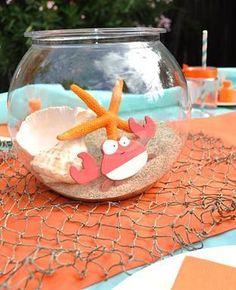 Cute centrepiece for an ocean or under the sea party