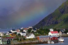 Reine, Lofoten Islands - with rainbow by Nir Nussbaum, via Flickr