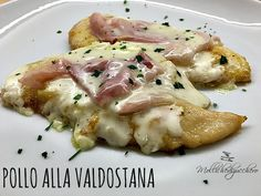 pollo alla valdostana Italian Dishes, Italian Recipes, I Love Food, Good Food, Risotto, Eating Light, Fish And Meat, International Recipes, My Favorite Food