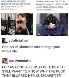 I can't decide whether to put this on funny or like, heartwarming? Funny Fails, Funny Memes, Hilarious, Jokes, My Tumblr, Tumblr Funny, Excuse Moi, Homeless Man, Cute Stories