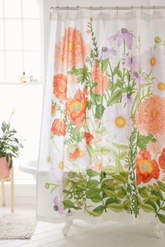 Shop Marina Floral Shower Curtain at Urban Outfitters today. We carry all the latest styles, colors and brands for you to choose from right here. Decor, Dorm Decorations, Curtains, Cotton Shower Curtain, Shabby Chic Bathroom, Floral Shower, Bathroom, Bathroom Decor, Large Scale Wall Art