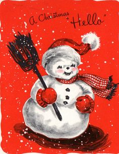 Christmas card - retro