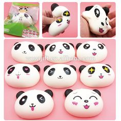 Jumbo squishy Chinese panda, big eys slow rising panda, Chinese squishy PU material animal panda, View Chinese squishy PU material animal panda, WOW Product Details from Shenzhen Wow Gift Co., Ltd. on Alibaba.com