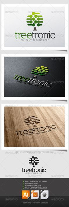 Tree Tronic Logo  #GraphicRiver         Logo of an electronic components tree. Can be used for many kind of project. Full vectors, this logo can be easily resize and colors can be changed to fit your colors project. Flat version for print also included. The font used is in a download file in the package.  Font :  .fontsquirrel /fonts/maven-pro  .dafont /fr/nilland.font 	 Files provided : .ai (CS6 and CS), .eps, .jpg, .png (transparent)     Created: 20June13 GraphicsFilesIncluded…