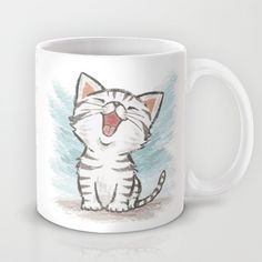 Cat Mug by Toru Sanogawa - $15.00