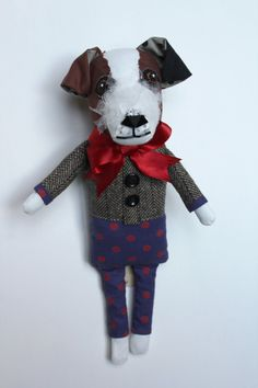 Rupert the Jack Russell by TabithaCottrell on Etsy #jack #Russel #toys