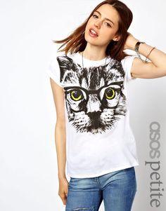 Frete Grátis Animais projeto bonito do gato cópia bonita t-shirt para meninas Senhoras moda verão camisa 2pcs/lot