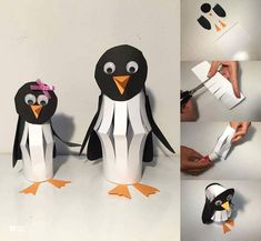 57 Mesmerizing Autumn Crafts for Kids That Are Just Too Magnetic to Say 'No' Paper Cutout Penguin Craft Winter Crafts For Kids, Autumn Crafts, Paper Crafts For Kids, Craft Activities For Kids, Winter Activities, Art For Kids, Cool Paper Crafts, Sand Crafts, Winter Diy