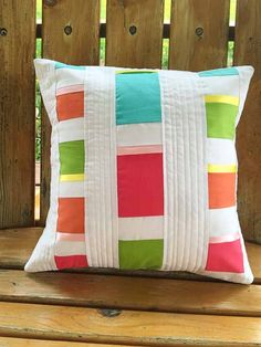 Quilted Modern Patchwork Cushion