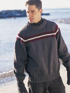 Simple Stripe Raglan | Yarn | Free Knitting Patterns | Crochet Patterns | Yarnspirations