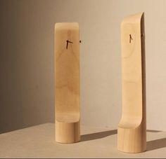 Natural Standing wood slab clocks