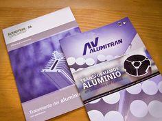Folleto corporativo para AV Alumitrán, al antes y el después...