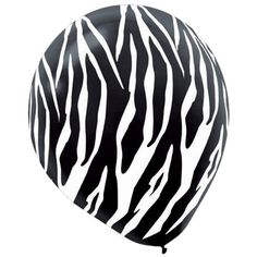Check out Zebra Print Latex 12 Balloons - Bargain Birthday Party Supplies from…
